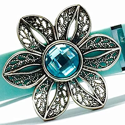 "Fitband Bling ""Fleur Aqua"" - Fitness Band Accessory for Fitbit® Flex, Charge/Charge HR, Jawbone® UP2, UP3, Move (band) and Garmin® vivosmart"