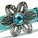 Fitband Bling Fitness Band Accessory ''Fleur Aqua'' for Fitbit Flex; Flex 2; Alta; Charge; Charge HR; Charge 2; Jawbone UP2; UP3; Move band and Garmin vivosmart