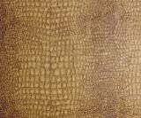 "54"" Wide Alligator Caramel Color Upholstery Leather Vinyl Fabric Per Yard"
