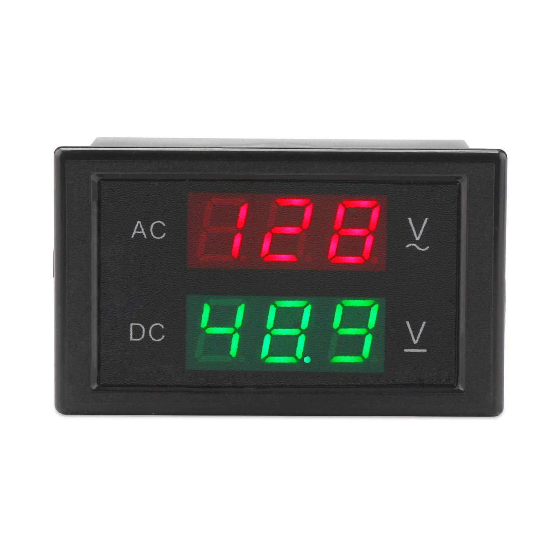 DROK 100105 AC 100-300V 100A Digital Voltage Current Multimeter LCD Volt Amp Meter Gauge Panel Tester Voltage Amperage Dual Display Power Monitor