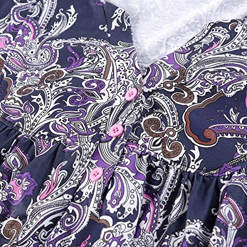 Manches Longues T Femmes Courtes Jahurto Manches Shirt Manches pour Courtes Purple wOa7Z