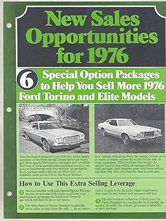 Ford Torino Elite Salesmans Brochure