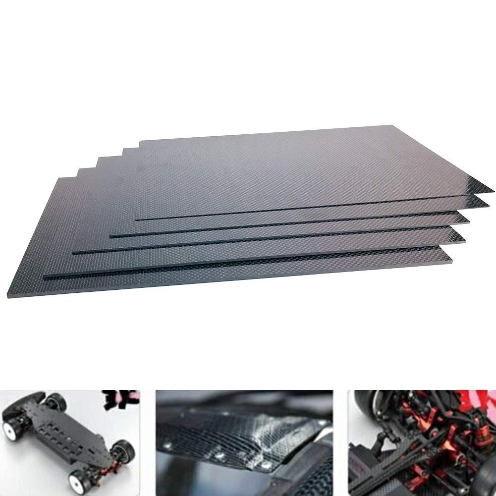 2 mm Spachy Plaque de Fibre de Carbone 200 x 300 mm Voir Image 1,5 mm Panneau de Plaque en Fibre de Carbone 0,5 mm 3 mm d/épaisseur 1 mm 0.5mm