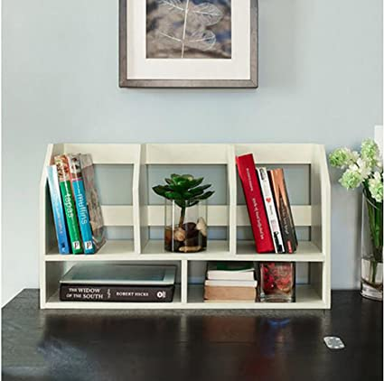 WERT Wall Bookshelves Bookshelf/Simple Office Supplies File Storage  Rack/student Computer Desktop Flower
