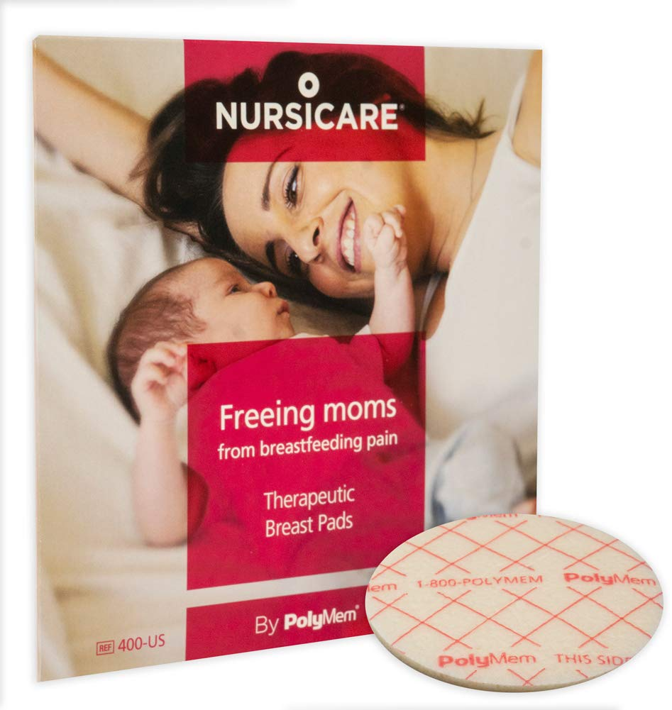 Nursicare Therapeutic Breast Pads, for Wounded, Cracked & Painful Nipples, Latex Free, 2.5 Inch, 400-US (Pack of 6) by Shapes by PolyMem