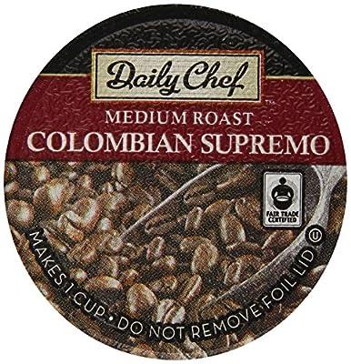 Daily Chef 100% Arabica Coffee Colombian Supremo, Medium Roast, 80 Count
