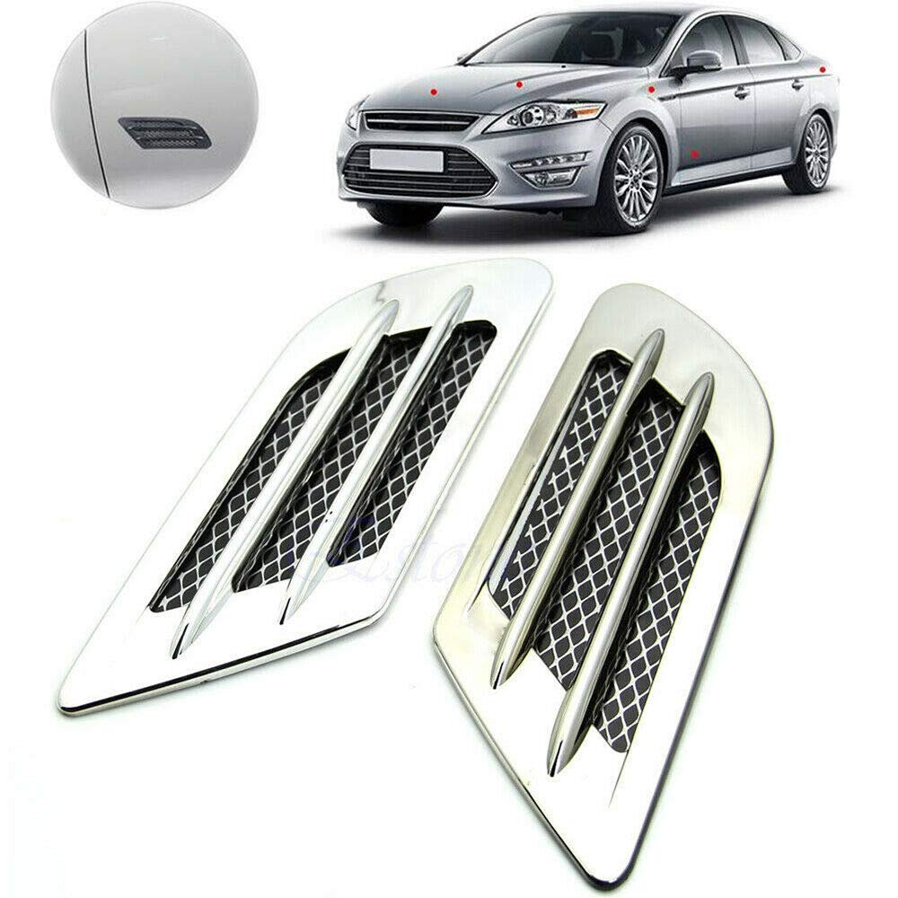 Alician Car Vent Hole Cover Side Air Flow Intake Grille Duct Decoration Sticker Auto Accessories
