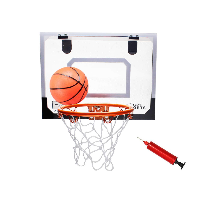 (スタイルキャリー) Style-Carry ミニバスケットボールフープ スポーツおもちゃ ミニバスケットボールフープ バックボードシステム ドア上 5.5インチバスケットボールとポンプ付き B07MYWBN1F