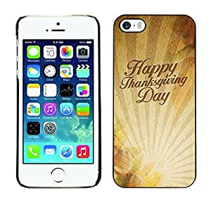 YOYO Slim PC / Aluminium Case Cover Armor Shell Portection //Christmas Holiday Happy Thanksgiving Day 1160 //Apple Iphone 5 / 5S