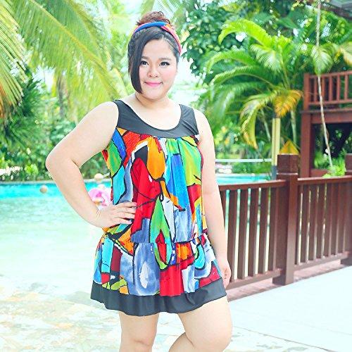 XL-übergewichtige Menschen kleiden einteilige Bikini-Badeanzug