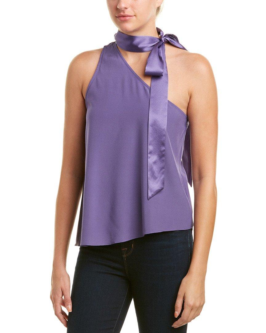 Ramy Brook Womens Jules Silk-Blend Top, S, Purple