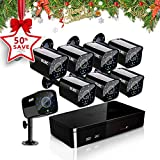 ELEC 8CH HDMI 960H DVR 1500TVL Outdoor Indoor Day Night IR-CUT CCTV Surveillance Home Video Security Camera System , Motion Detection Push Alerts QR Code Quick Scan Remote Viewing- NO Hard Drive …
