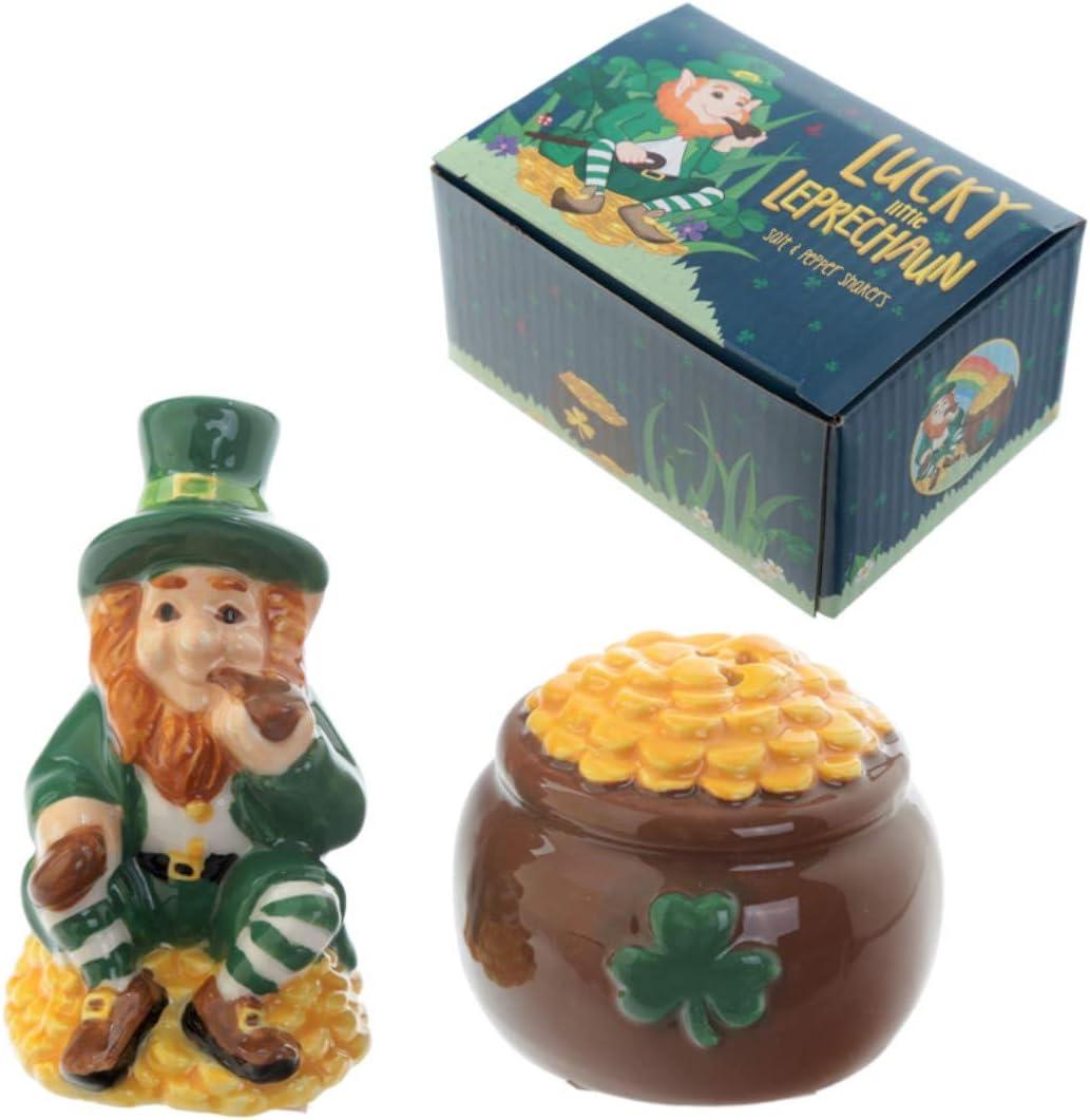 Juego de salero y pimentero con diseño de duende, típico regalo irlandés: Amazon.es: Hogar