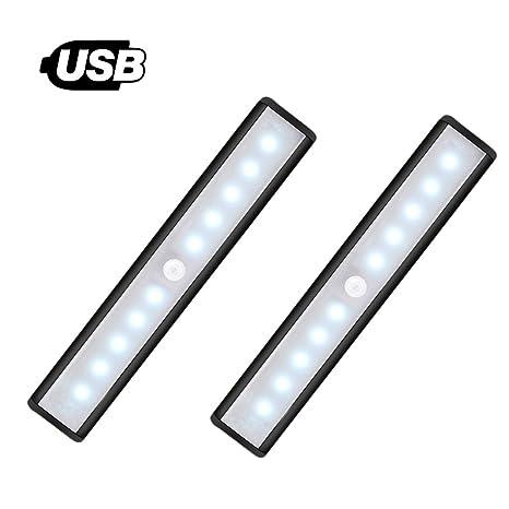 [nuevo] Sensor de movimiento luz para armario – JEBSENS t05b 2 Pack USB Batería