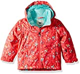 Roxy Girls' Little Mini Jetty Snow Jacket, Neon Grapefruit_Foxes, 4/5
