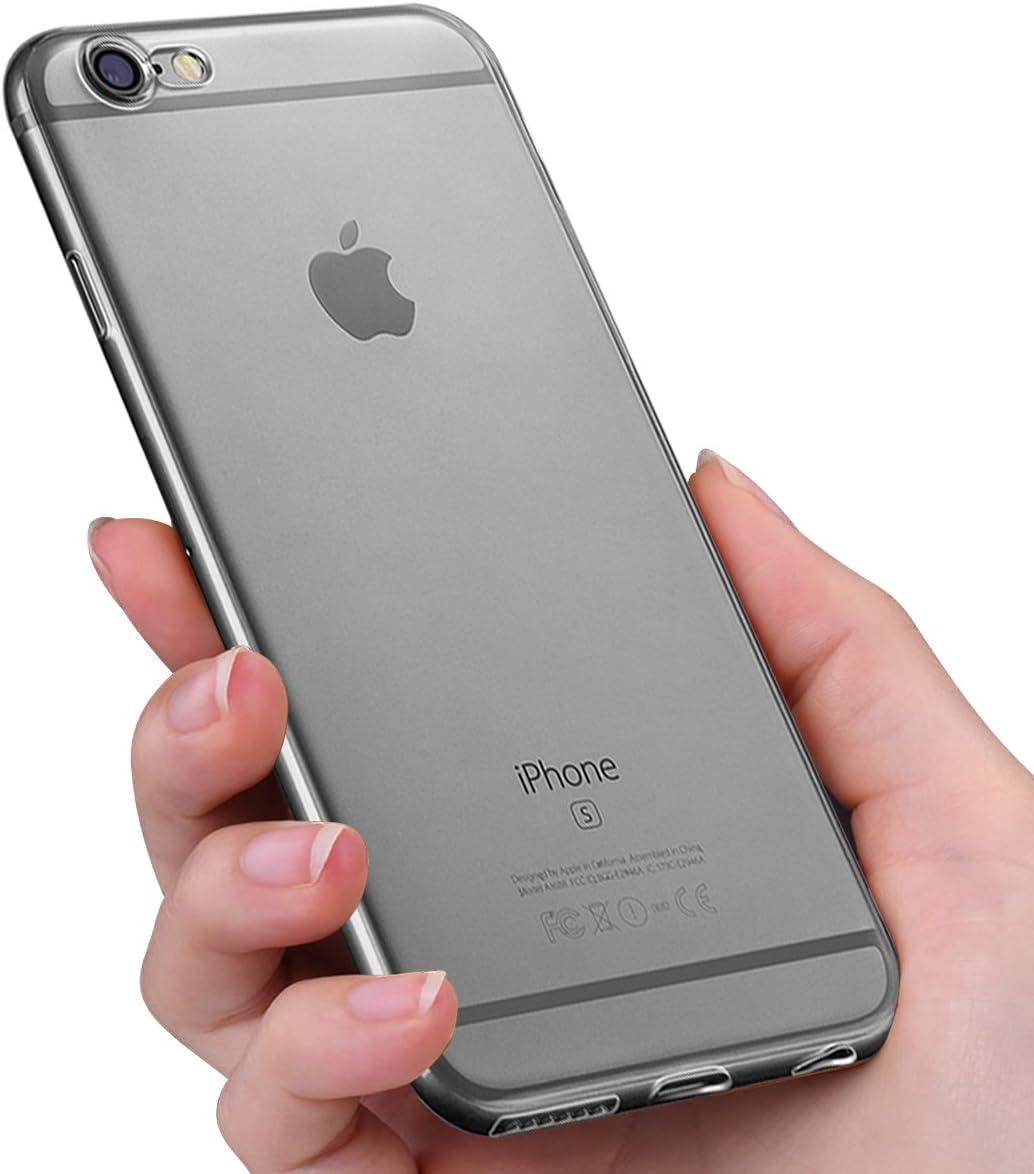 6.1 Zoll HOTUCG iPhone XR H/ülle Transparent Ultra Slim Silikonh/ülle Durchsichtig R/ückseite Flexible TPU Schutzh/ülle Crystal Clear Case Cover Bumper Handy H/ülle f/ür iPhone XR Transparent