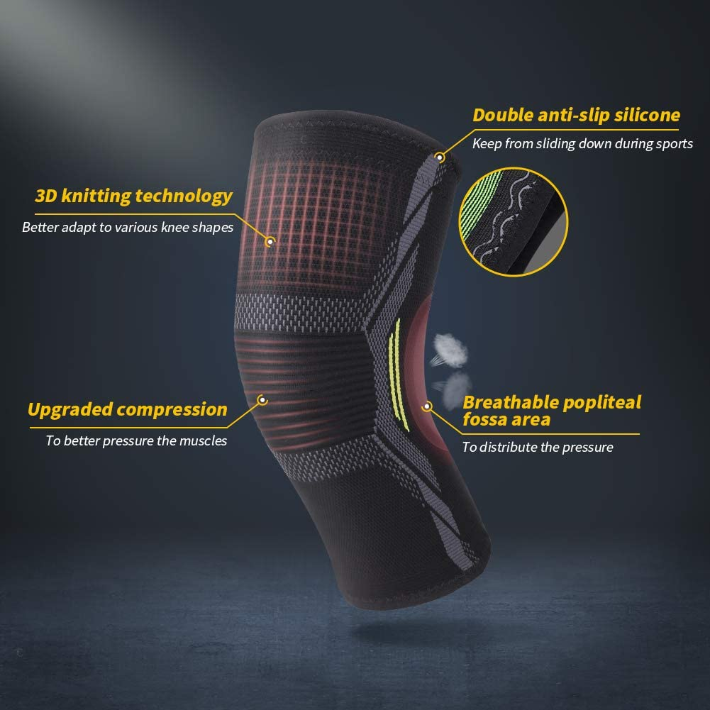 Knee Brace Knee Compression Sleeves MUBYTREE