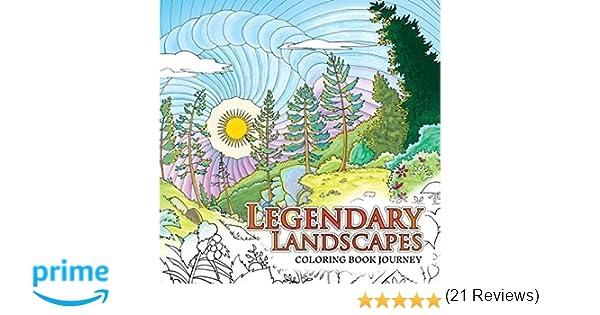 Legendary Landscapes Coloring Book Journey Witek Radomski Carrie Wong 9780994881502 Books
