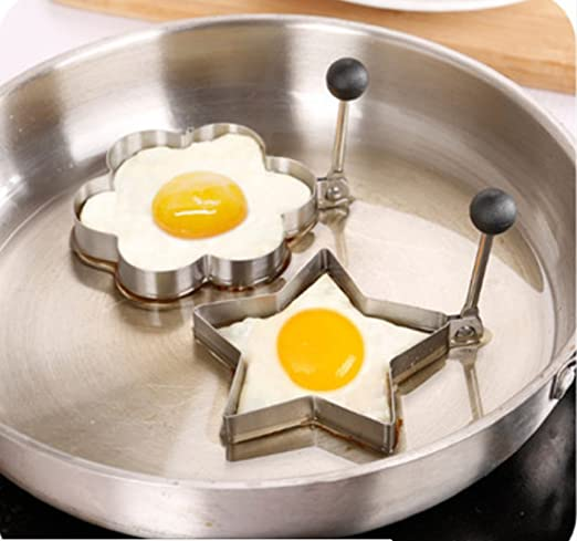 Egg Shaper Star and Heart Set Cooking Kitchen Tools Stainless