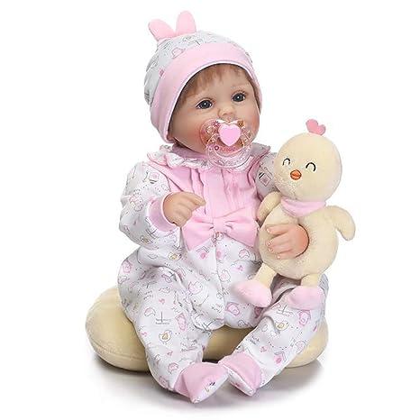 LHKAVE Muñecas de bebé,Realistic Vinilo Suave Reborn Baby ...