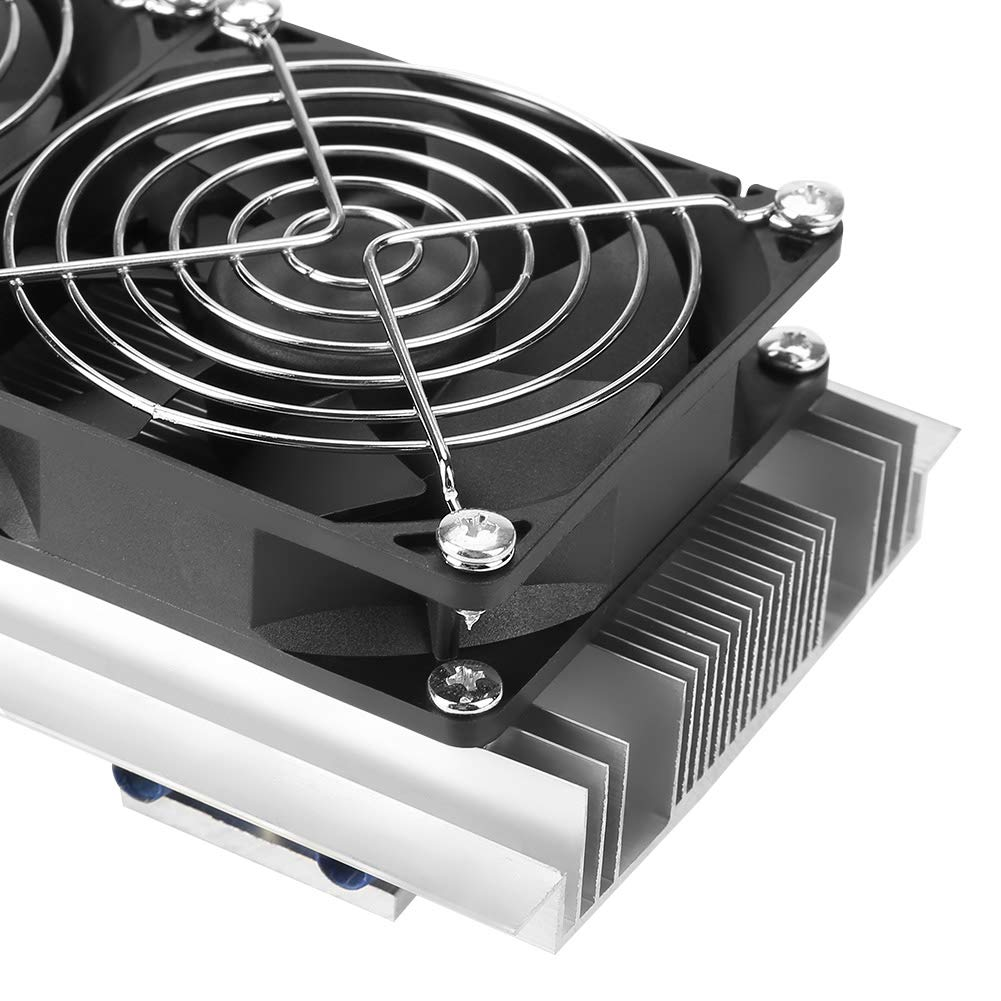 Semiconductor Cooler,Trinuclear Semiconductor Thermoelectric Cooler Peltier Refrigeration DIY Air Cooling Device