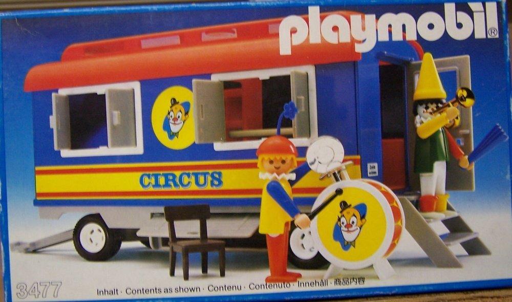 Wonderlijk Amazon.de:PLAYMOBIL® 3477 - Circuswagen mit Clowns SF-72