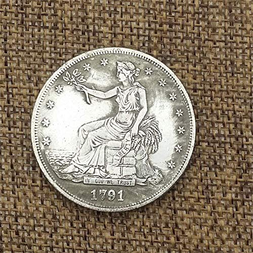 BoBoLing Old Antique 1791 US One Dollars-1791 US Old Coin Collecting-US Dollar USA Old Original Pre Morgan Dollar ()