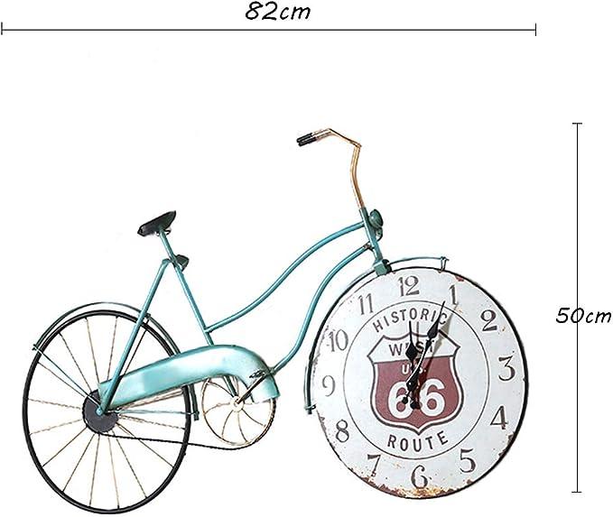 Reloj de Pared Vintage/Reloj de Pared de Bicicleta de Hierro Forjado, decoración Creativa para el hogar Reloj de Silencio, Apto para Sala de Estar, Bar, Estudio (82 × 50 cm): Amazon.es: Hogar