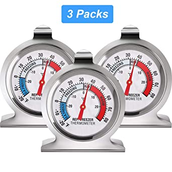 Bao Rui Sheng Termómetro para nevera, termómetro para refrigerador ...
