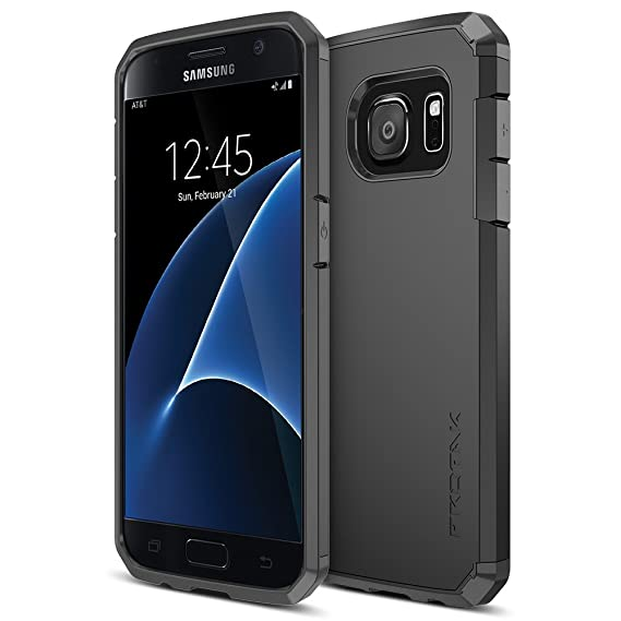 new style 998d4 0a1a2 Galaxy S7 Case, Trianium [Protak Series] Ultra Protective Cover Case for  Samsung Galaxy S7 [Black] Dual Layer + Shock-Absorbing Bumper Hard Case
