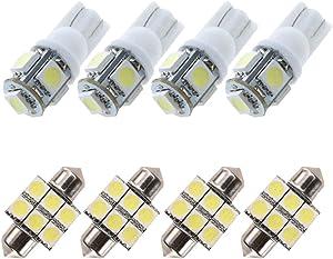 For Subaru Forester Led Interior Lights Crosstrek Led Interior Car Lights Bulbs Kit White 8pcs 1998-2018