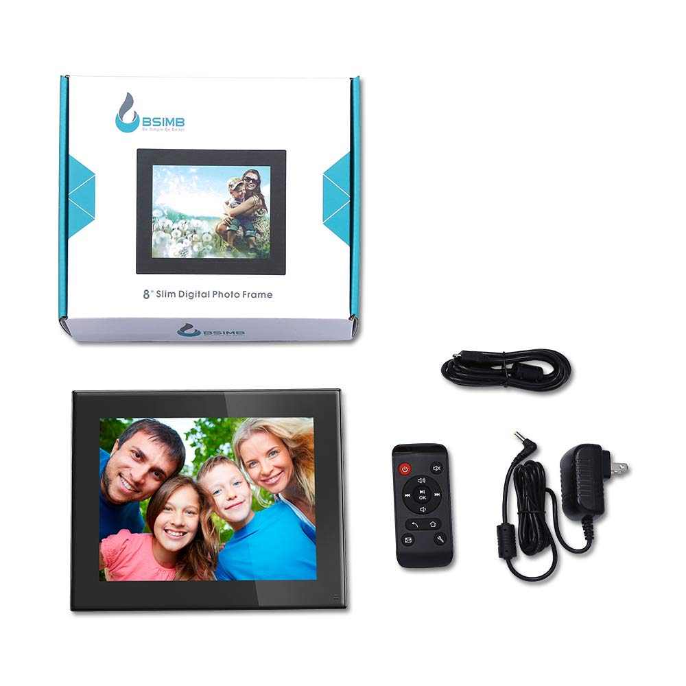 BSIMB Digital Photo Frame Digital Picture Frame 8 Inch 1024×768 Resolution Display with Calendar,Music,Video and USB,SD Card and Remote Control(M03 Black) by Bsimb (Image #9)