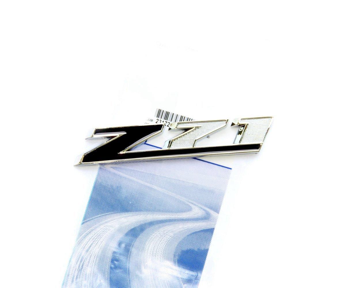 Yoaoo/®1x OEM Chrome Black Z71 Emblem Badge for GMC Chevy Silverado Sierra Tahoe Suburban