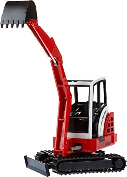 Bruder- Excavator VEHICULO Mini-Excavadora SCHAEFF HR16 Color Blanco Rojo Negro 2432