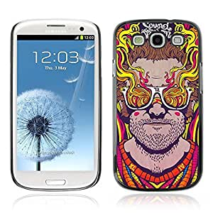 Colorful Printed Hard Protective Back Case Cover Shell Skin for Samsung Galaxy S3 III / i9300 i717 ( Abstract Psychedelic Sunglasses )