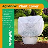 Agfabric Plant Cover Warm Worth Frost Blanket - 0.55 oz Fabric of 39''Hx39''Dia Shrub Jacket, 3D Round Plant Cover for Season Extension&Frost Protection,6 pack