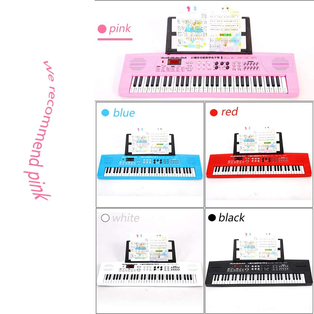 Amazon.com: LIUFS-Piano Childrens Keyboard 61 Keys A Variety of Colors Optional Toy Piano Electric Piano Stand Mobile Phone Ipad Multi-Function Cartoon ...