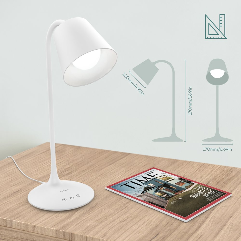 VAVA VA-DL29 LED Desk Lamp for Office Home Lighting, 3 Color Modes with Gradual Dimming, 1 Hour Timer Touch Control, Memory Function, Official Member of Philips Enabled Licensing Program by VAVA (Image #5)