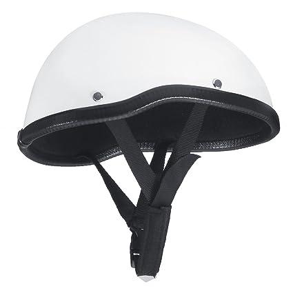 Alamor Medio Cara Casco Cráneo Gorra De Béisbol Seguro Duro Moto Scooter Equitación