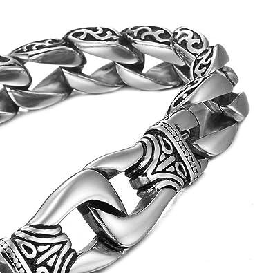 088e317a38b Bracelet Mendino en acier inoxydable - Motif dragon - Avec pochette cadeau