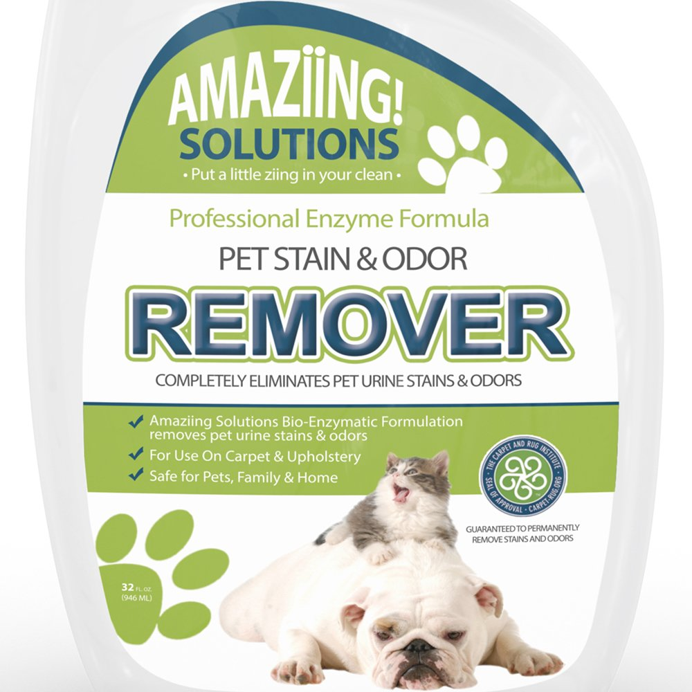 Etonnant Amazon.com: Amaziing Solutions Pet Odor Eliminator And Stain Remover Carpet  Cleaner For Dog Urine And Cat Pee, Professional Strength Enzymatic  Solution, ...