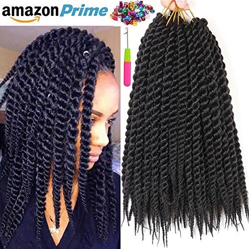 Leyoo 12 Senegalese Twist Crochet Hair 120 Roots Box Thin Havana