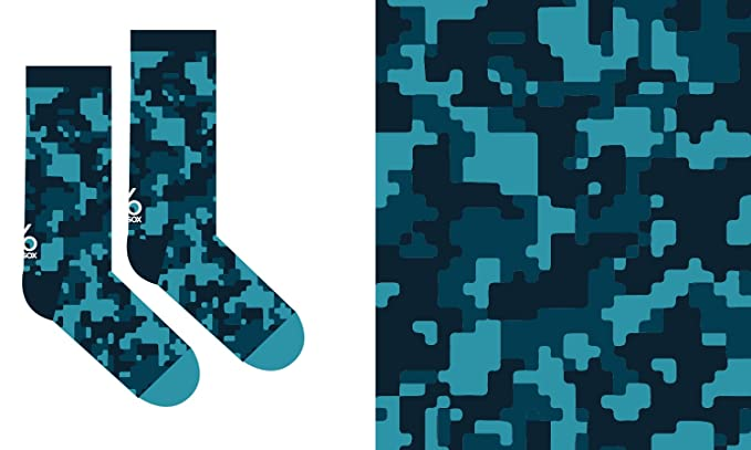 6c39d78a0dcd4 Image Unavailable. Image not available for. Color: Yo Sox Camo Funky Men's  Crew Socks for Dress ...