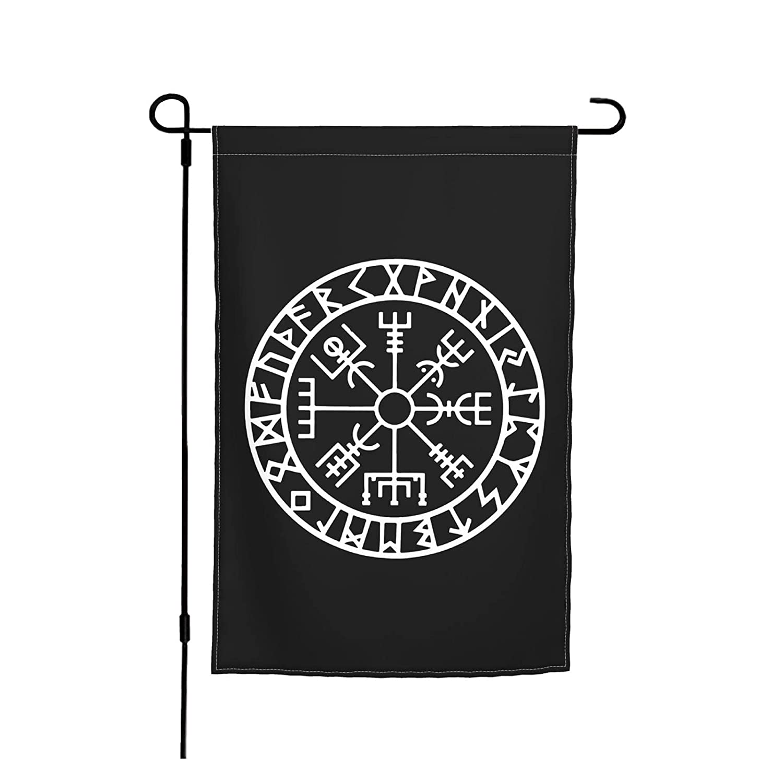 Viking Symbol Nordic Compass Garden Flag Outdoor Flag Decoration Hanging Flags Yard Flag