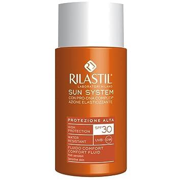 Amazon com: Rilastil Sun System PPT Fluid Comfort Sensitive Skin