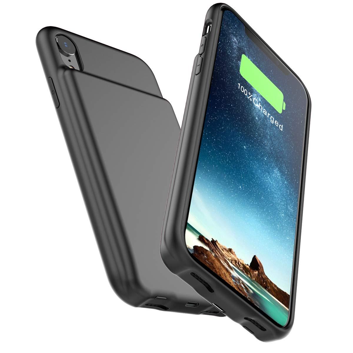 4b05c1b229d Rojo HMQJ-4B-929 Happon Funda Bateria iPhone XR 5000mAh Baterí a Cargador  Externa Ultra Carcasa Baterí a Recargable Power Bank Portatil para ...
