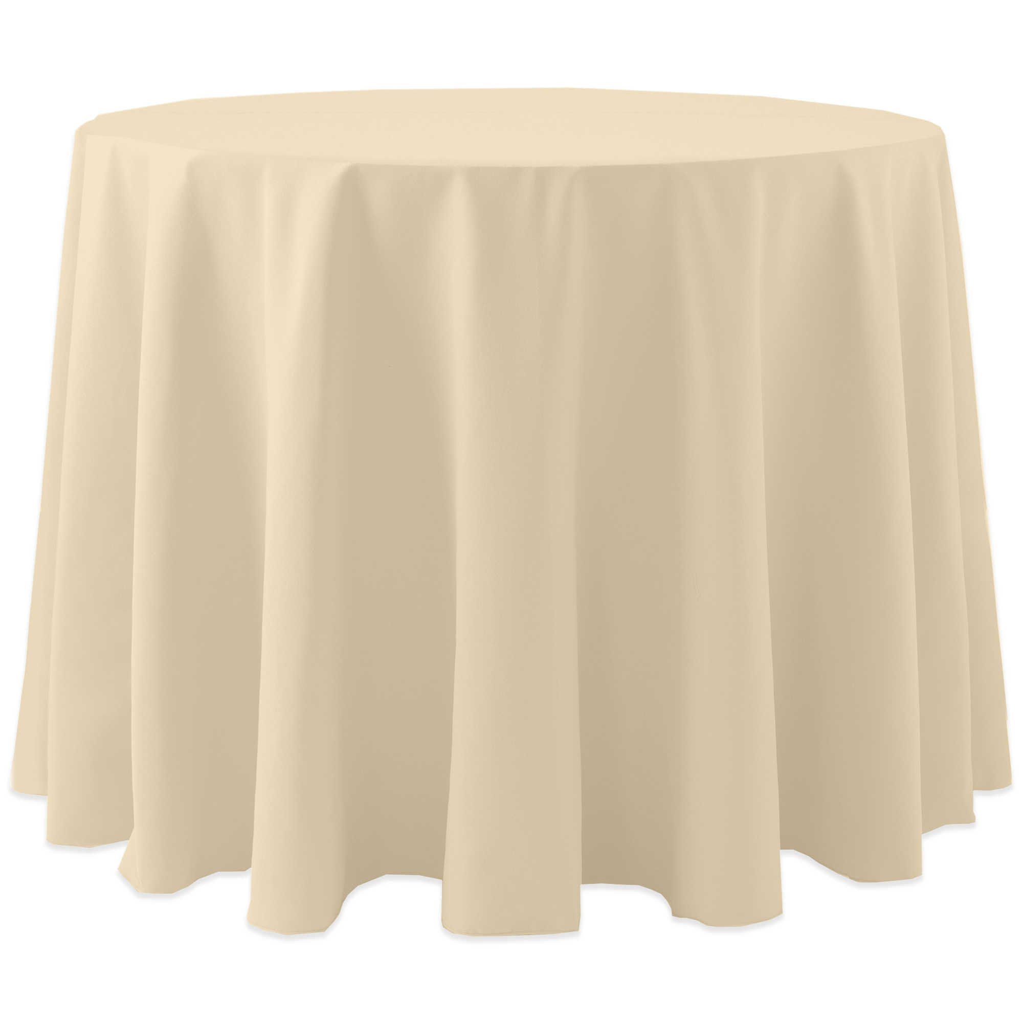 Ultimate Textile (10 Pack) Cotton-feel 72-Inch Round Tablecloth - for Wedding and Banquet, Hotel or Home Fine Dining use, Tan Beige by Ultimate Textile (Image #1)