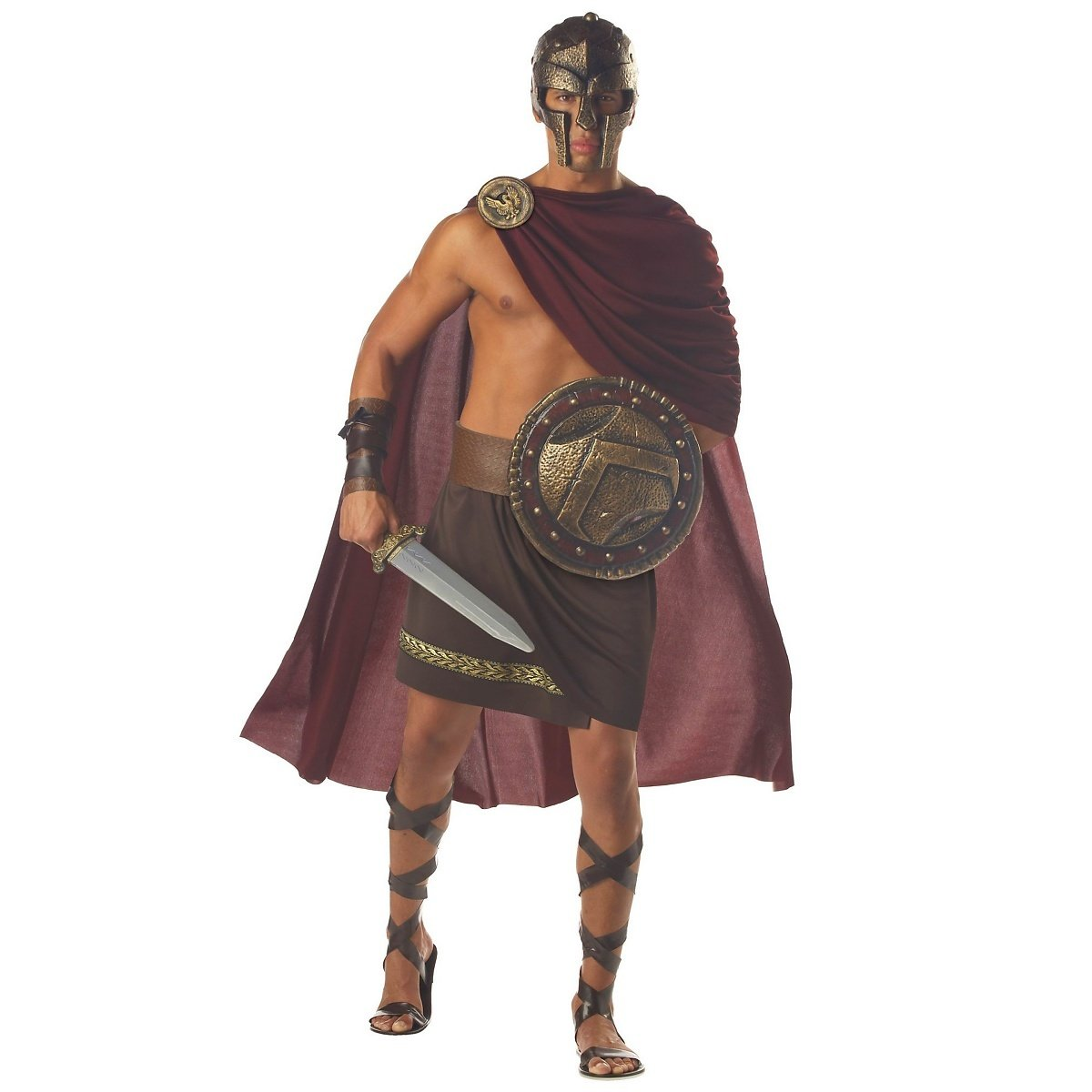 Spartan Warrior Menu0027s Fancy Dress Greek Roman Spartacus Costume Adult Outfit (Men 40/42) Amazon.co.uk Toys u0026 Games  sc 1 st  Amazon UK & Spartan Warrior Menu0027s Fancy Dress Greek Roman Spartacus Costume ...