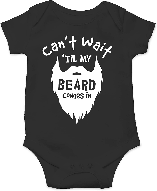 Funny Onesie\u00ae Newborn Baby Onesie\u00ae I/'ll wear this until my beard grows Baby Shower gift Bearded Dad baby girl baby boy Custom onesie\u00ae