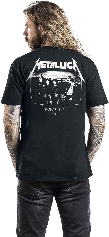 Slim Fit T-shirt Black Metallica Men/'s  Master of Puppets Back Print